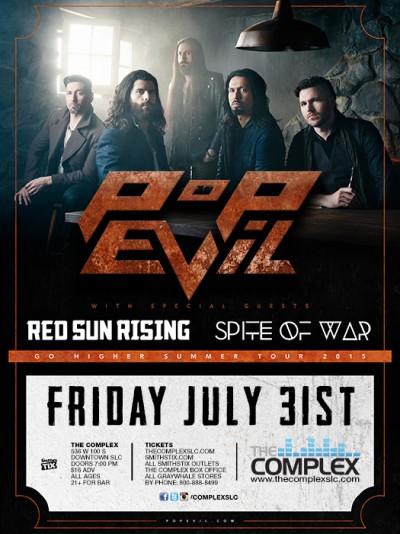 Pop Evil - Friday July 31st, 2015 At The Complex Salt Lake ...