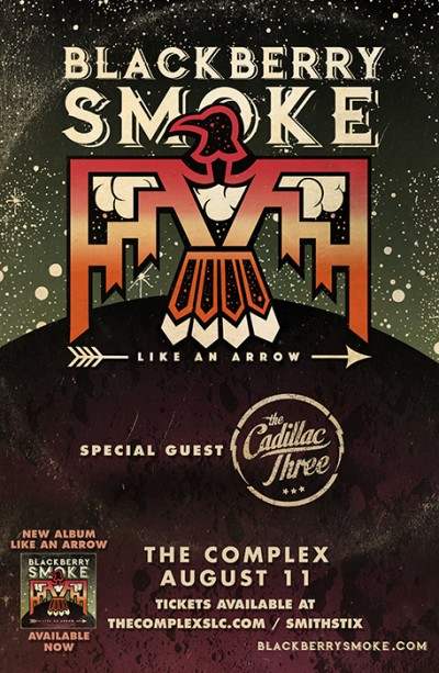 blackberry smoke like an arrow tour friday august 11th 2017 at the complex salt lake city. Black Bedroom Furniture Sets. Home Design Ideas