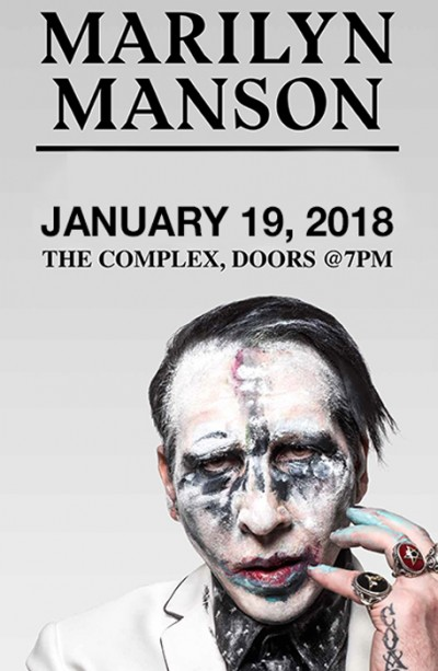New date marilyn manson friday january 19th 2018 at the complex new date marilyn manson rockwell m4hsunfo