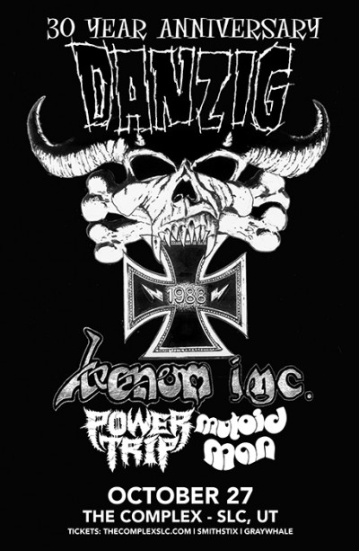 Danzig 30 Year Anniversary Tour Saturday October 27th 2018 At