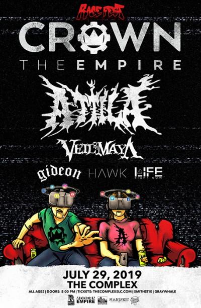 Crown The Empire - Rage Fest With Attila