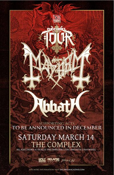 The Decibel Magazine Tour w Mayhem & Abbath