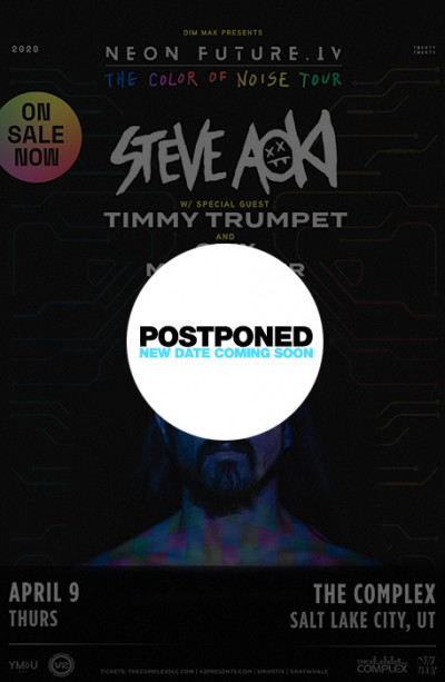 Postponed: Steve Aoki