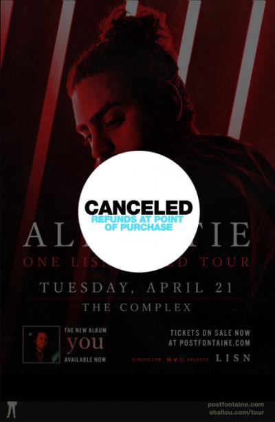 Canceled: Ali Gatie