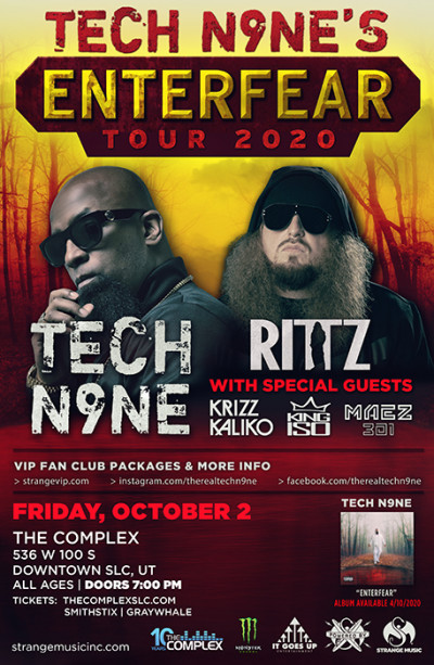 Tech N9ne -  Enterfear Tour - New Date