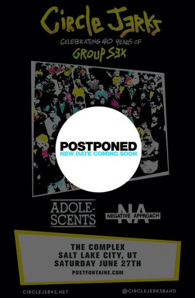 Postponed: Circle Jerks