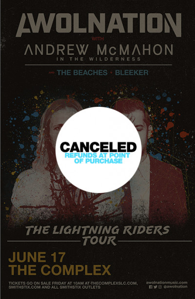 Canceled: AWOLNATION: The Lighting Riders Tour With Andrew McMahon