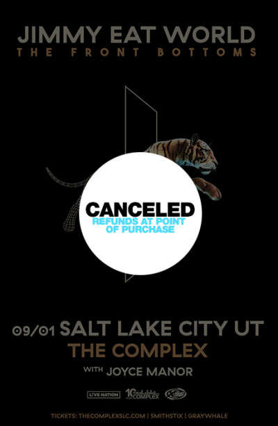 Canceled: Jimmy Eat World and The Front Bottoms