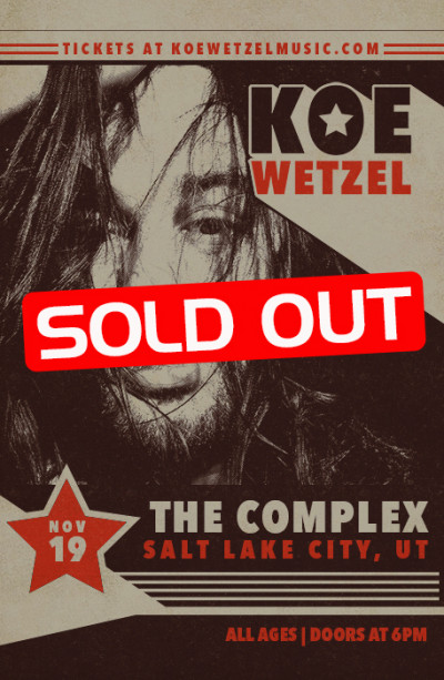 Koe Wetzel - SOLD OUT
